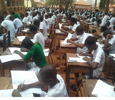 Exam scene